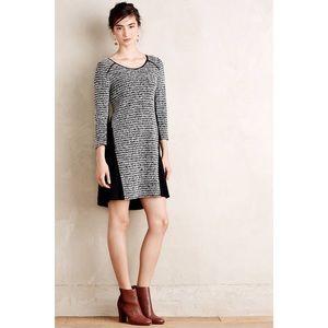 Anthropologie Dress Striped Tweed Contrast Shift